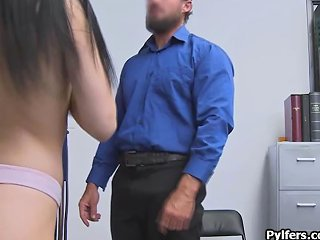 Officer Explores Teens Throat Using His Fat Cock Porn Videos